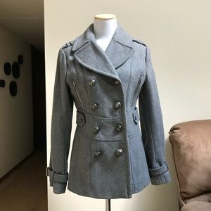 Miss Sixty Wool Blend Military Peacoat